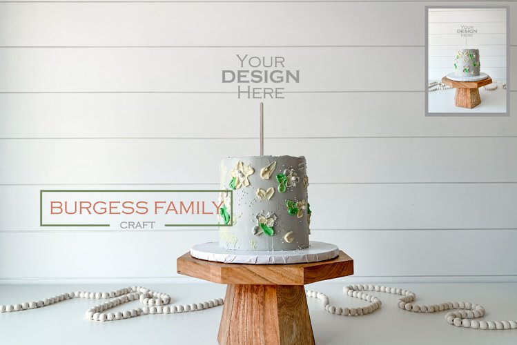 Mockup Cake Toppers Acrylic Stick topper Birthday 2 | JPEG