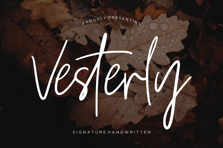Vesterly Signature Handwritten example image 1