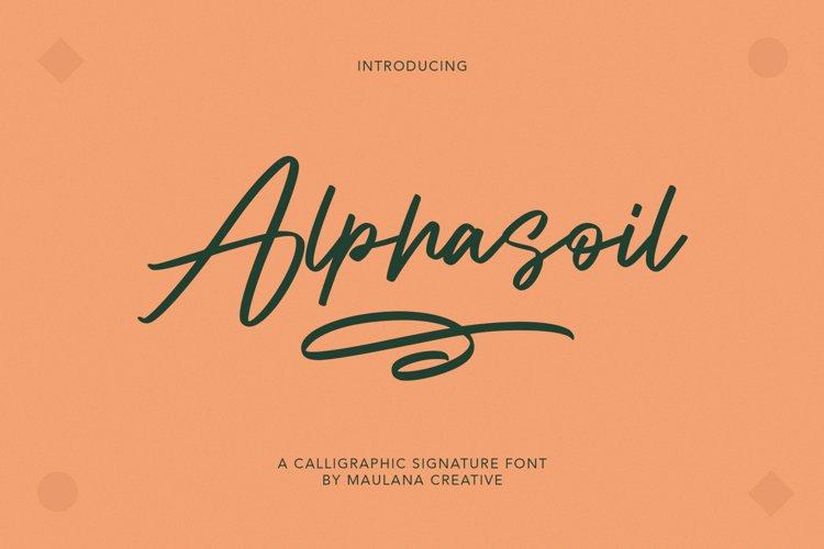 Alphasoil Signature Font example image 1
