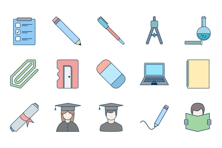 Set Of Education and Learning Icons example image 1