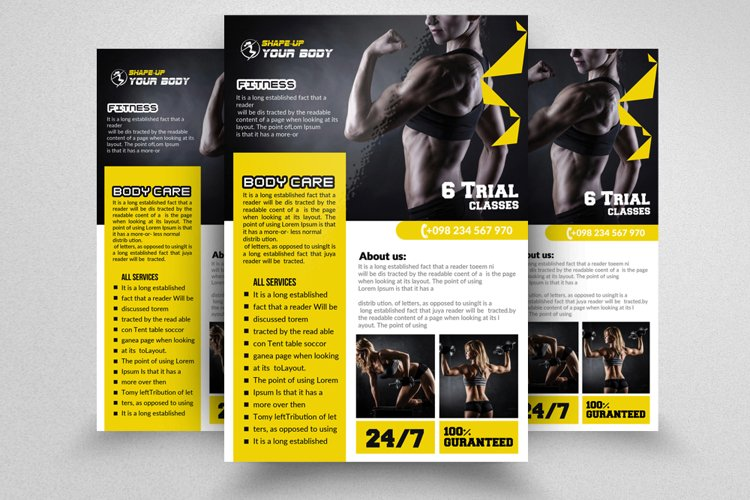 Body Fitness Flyer/Poster example image 1