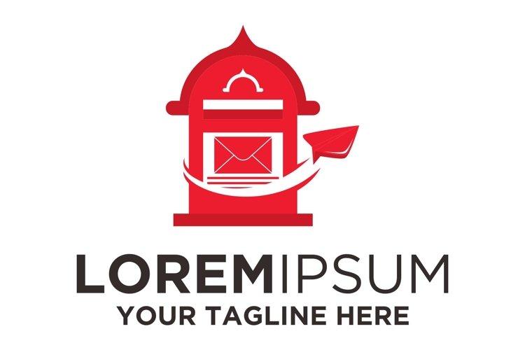 Post Mail Box Paperplane logo example image 1