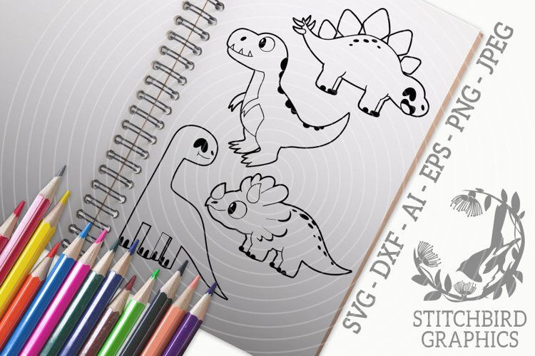 Dinosaurs 2 Bundle SVG, Silhouette Studio, Cricut, Eps, JPEG