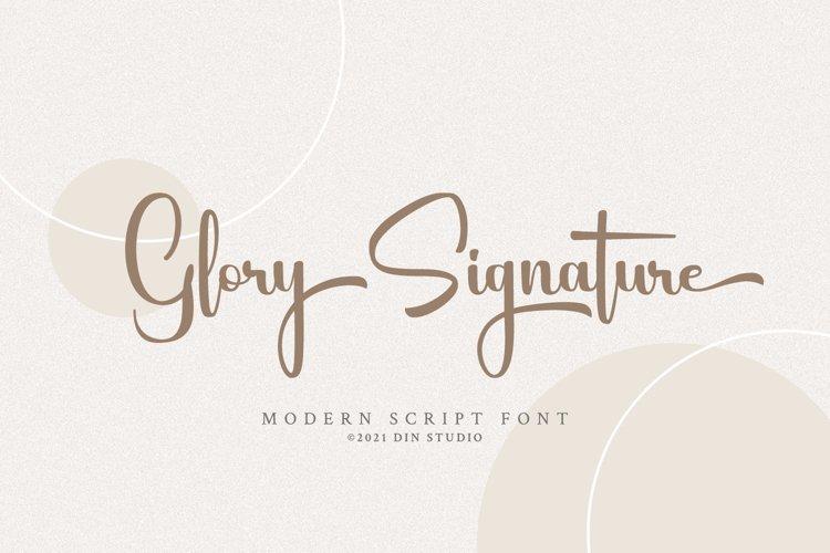 Glory Signature example image 1