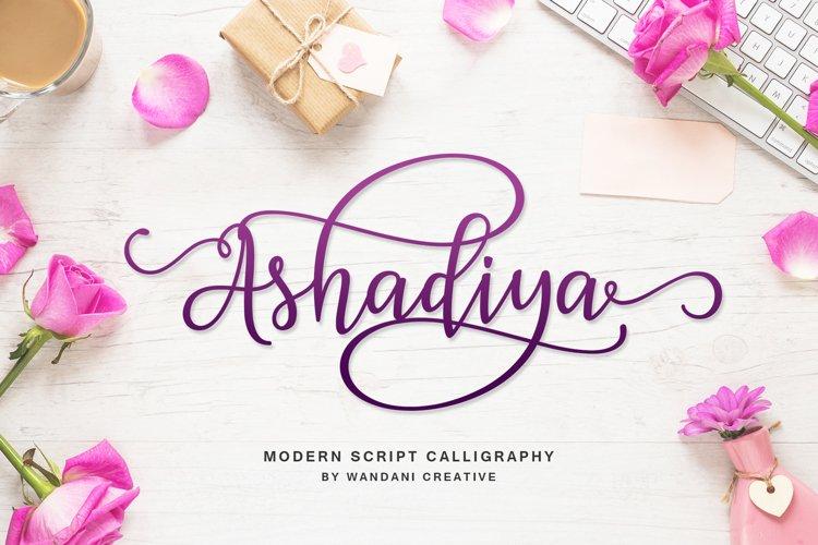 Ashadiya   Modern Calligraphy Font example image 1