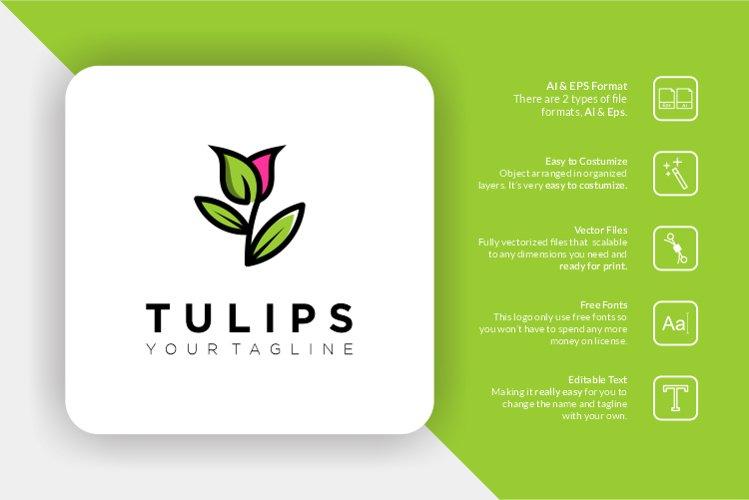 Tulips Flower Logo