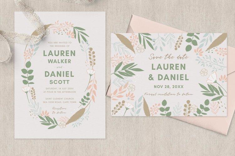 Spring Wreath Wedding Invitation Suite example image 1