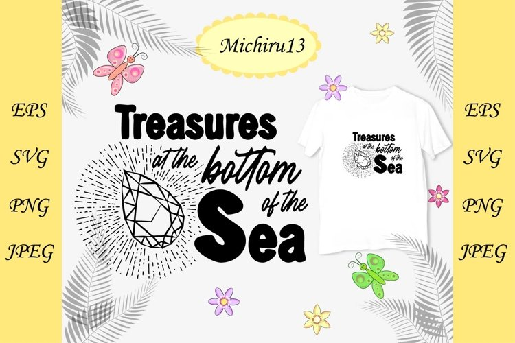 Quote Treasures at the bottom of the sea and a shining gem example image 1