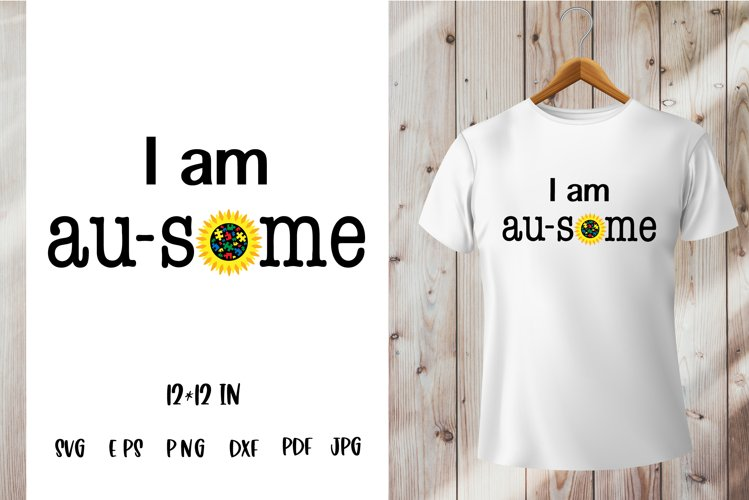 Autism Quotes. Autism Awareness SVG PNG. I am au some saying example image 1