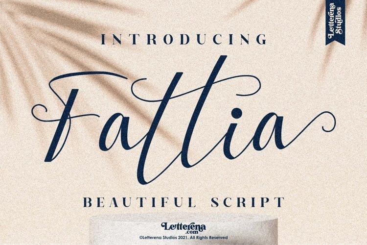 Fattia - Beautiful Script Font example image 1