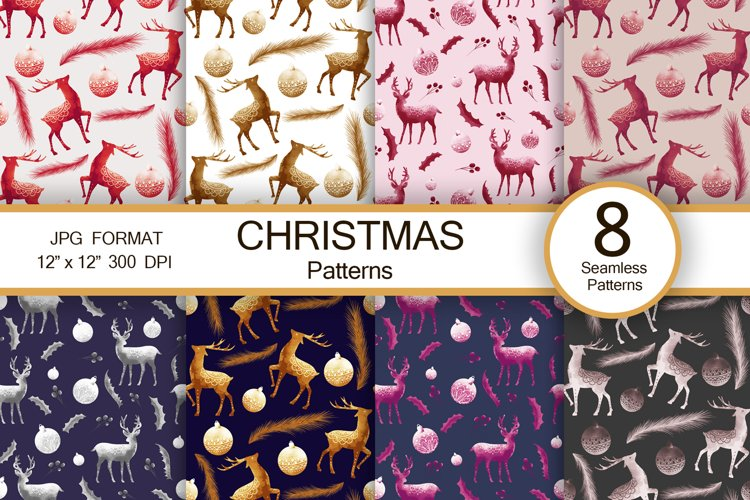 """Christmas vintage abstract patterns, 12""""x12"""" example image 1"""