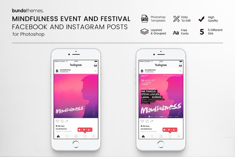 Mindfulness Event and Festival Social Media Pack