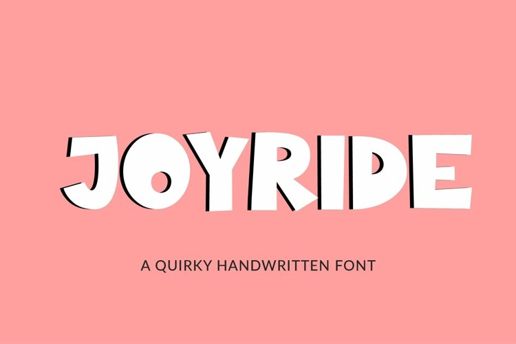 Web Font Joyride, a quirky handwritten font example image 1