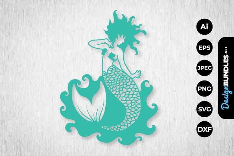 Mermaid Papercut example image 1