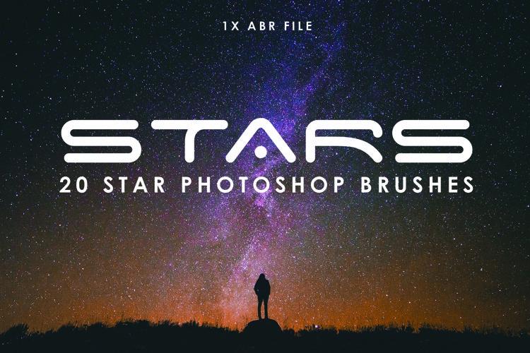 20 Star Photoshop Brushes example image 1