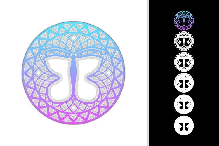 Mandala butterfly