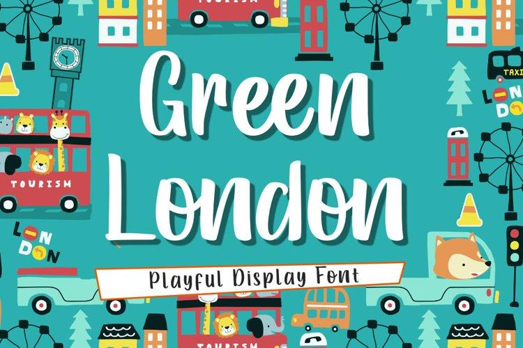 Green London | A Playful handwritten Font example image 1