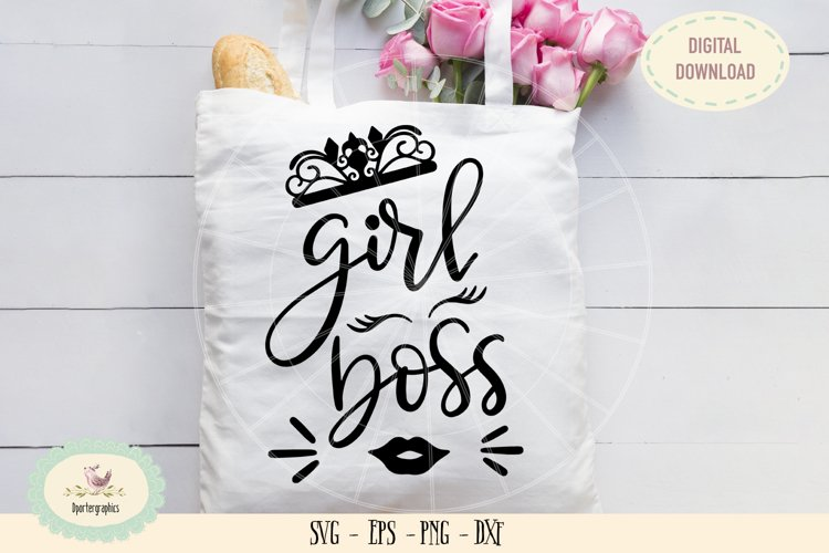 Girl boss princess crown SVG PNG hand drawn