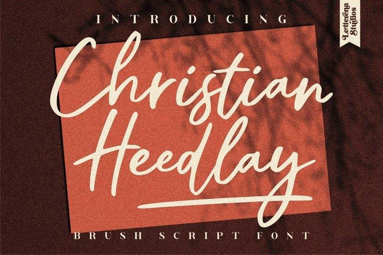 Christian Heedlay - Brush Signature Font example image 1