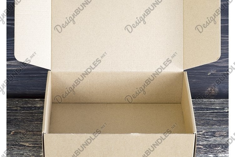 open empty cardboard box example image 1