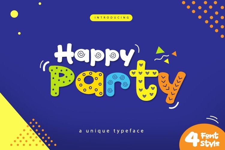 Web Font Happy Party example image 1