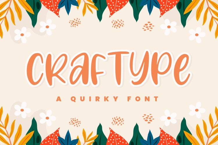 Craftype - Playful Display Font example image 1