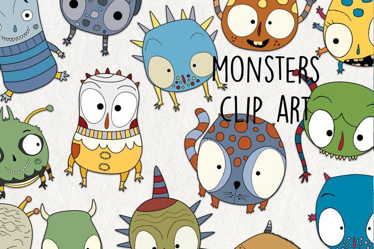Monster Clipart SVG. Cute monster digital file