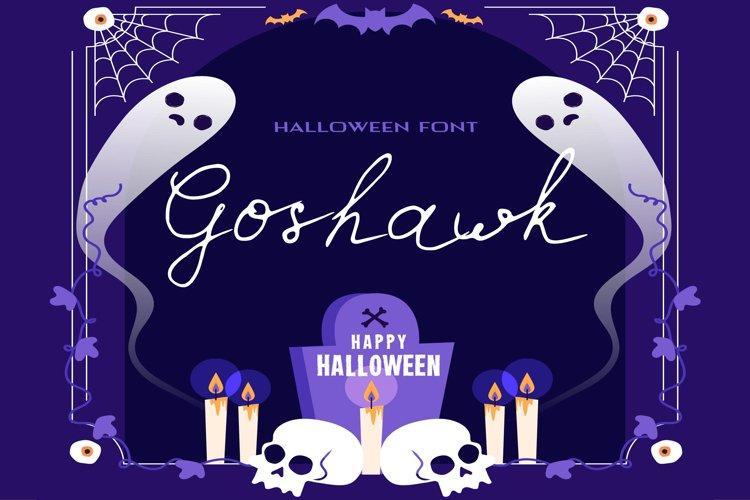 Goshawk Halloween Font example image 1