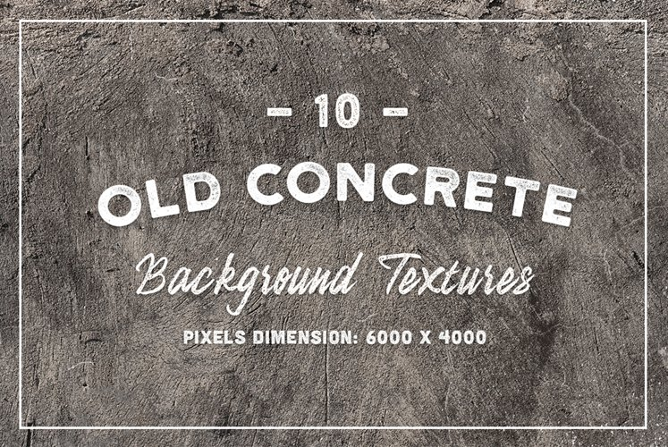 10 Old Concrete Background Textures example image 1