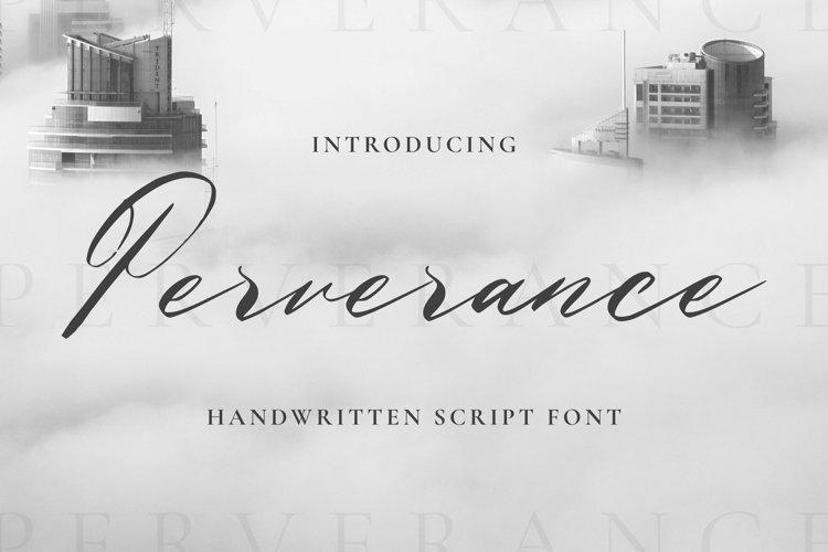 Web Font Perverance Font example image 1