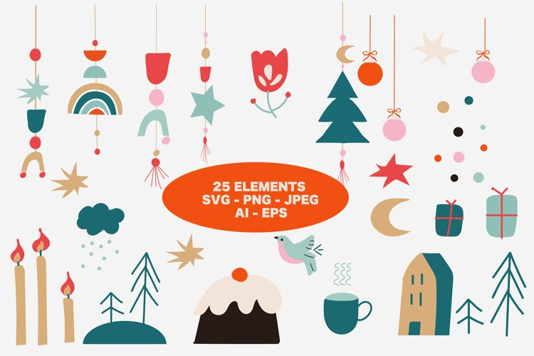 Hygge Christmas SVG Set of elements
