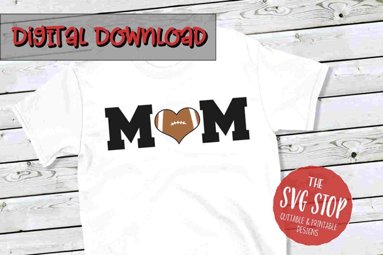 Mom Football 4-SVG, PNG, DXF
