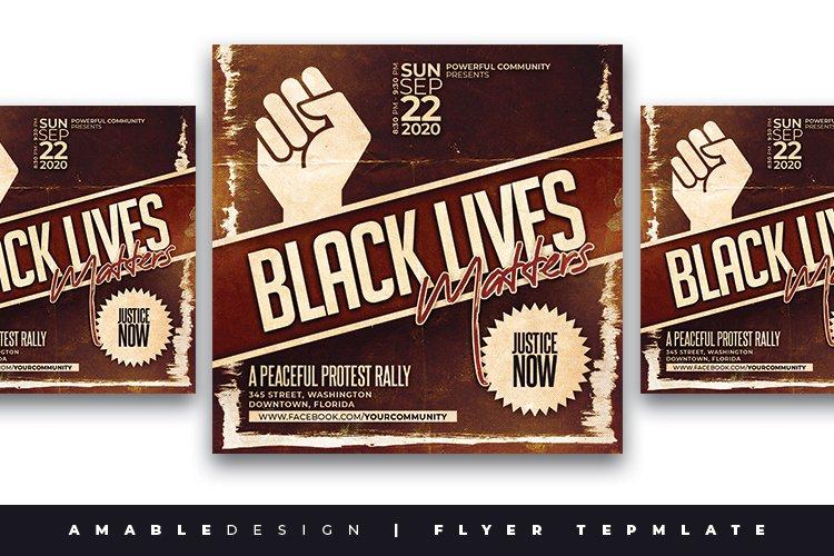 Black Lives Matter Flyer example image 1