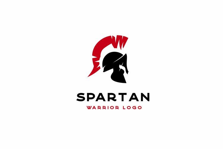 Spartan Sparta Logo, Spartan Helmet Logo Design example image 1