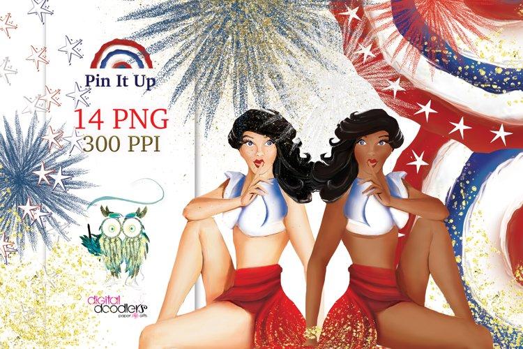 Pin It Up Patriotic Graphics
