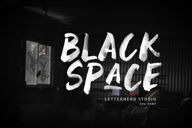 Black Space SVG Font example image 1