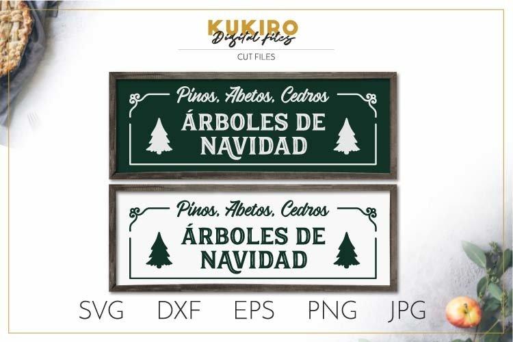 Arboles de Navidad SVG - Letrero de madera Navidad example image 1