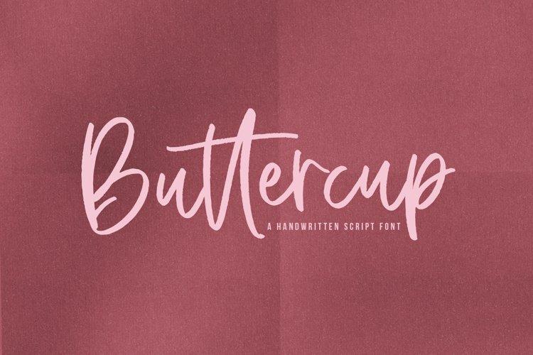 Buttercup - A Handwritten Script Font example image 1