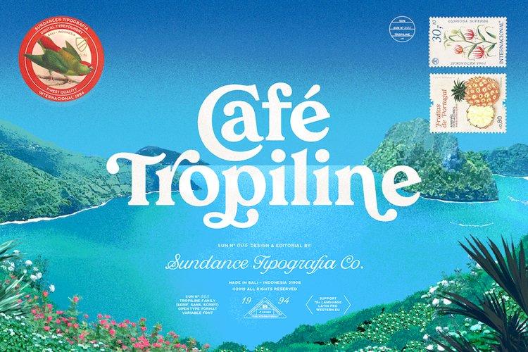 Tropiline Font Family example image 1