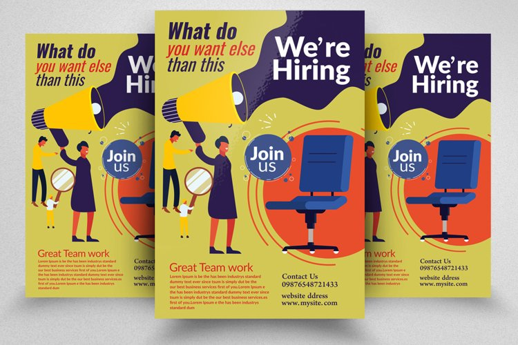We Are Hiring Business Flyer example image 1