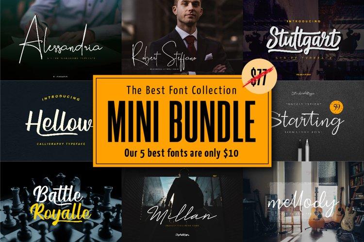 Mini Bundle | The Best Signature Calligraphy Font example image 1