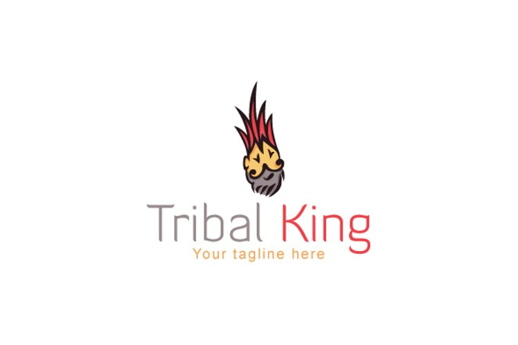 Tribal King - Creative Artistic Traditional Human Face Stock example image 1