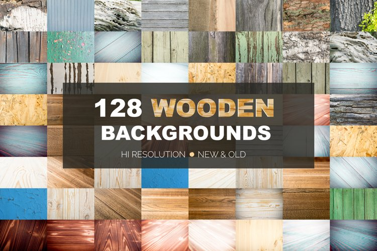 Wooden mockup texture background bundle. New and old table example image 1
