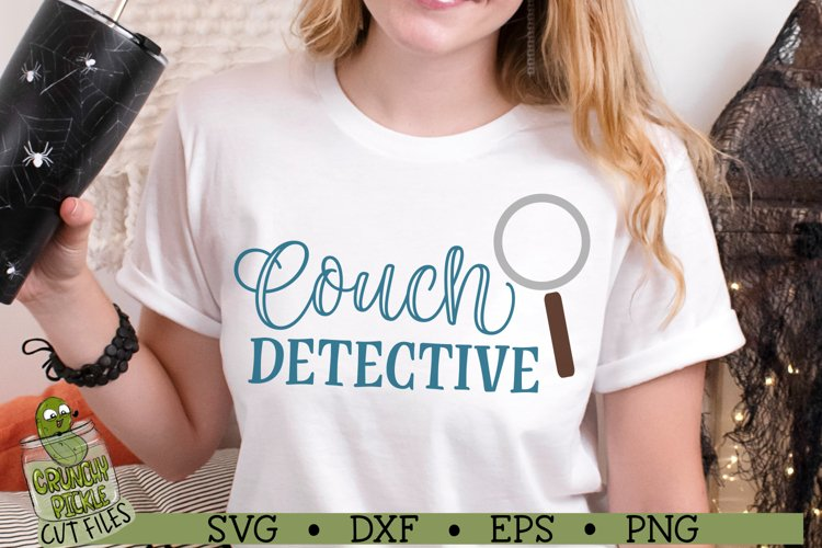 Couch Detective SVG Cut File example image 1