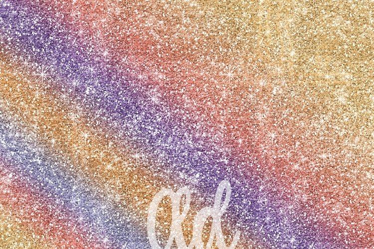 Rainbow Glitter Digital Paper Textures - Free Design of The Week Design1