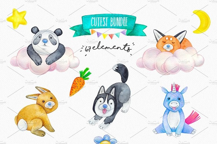 CUTE ANIMALS collection BABY SHOWER example 2