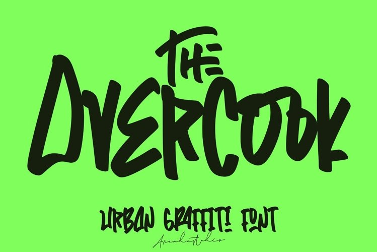 The Overcook | Graffiti Font example image 1