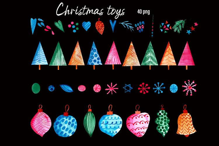 Christmas Toys & Ornaments Clipart example 4