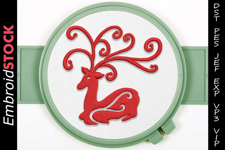 Christmas Festive Deer Embroidery Design