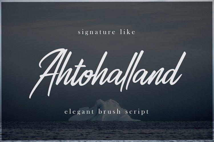 Ahtohalland elegant signature script example image 1
